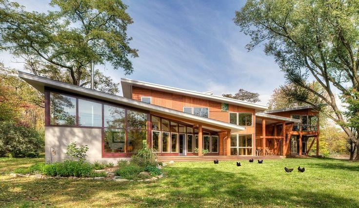 Superbe ferme rénovée avec goût en maison contemporaine en Virginie, Usa, une-Virginia-Farmhouse-par-Reader #construiretendance