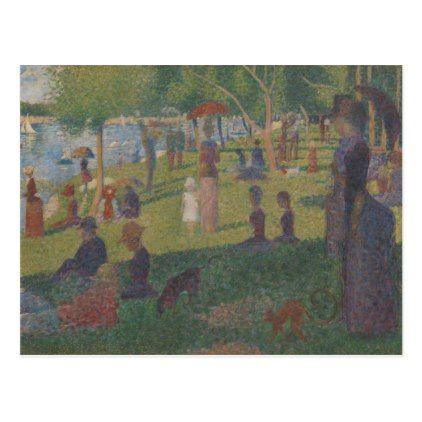 #Study for A Sunday on La Grande Jatte Postcard - #sunday #sundays