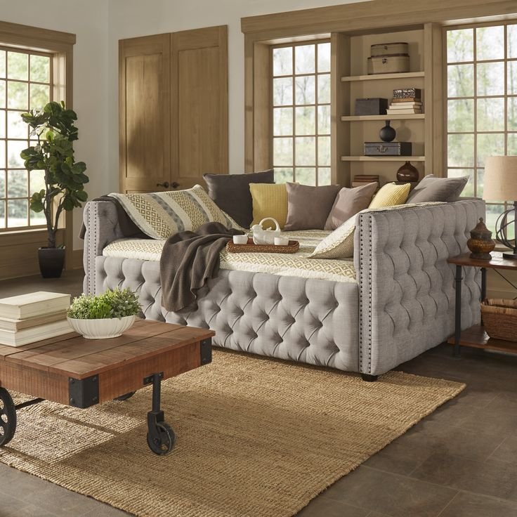Knightsbridge Full Size Tufted Nailhead Chesterfield Daybed and Trundle by iNSPIRE Q Artisan | Overstock.com Shopping - The Best Deals on Kids' Beds