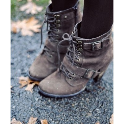 Buckle Boots: Style, Lace Up Boots, Fall Shoes, Ankle Boots, Cute Boots, Fall Booty, Fall Boots, Brown Boots, Heels