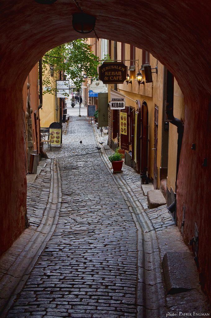 Gåsgränd, Gamla stan, Stockholm. …
