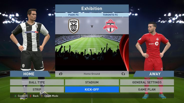 Paok FC vs Toronto FC, Toumba Stadium, PES 2016, PRO EVOLUTION SOCCER 2016, Konami, PC GAMEPLAY, PCGAMEPLAY
