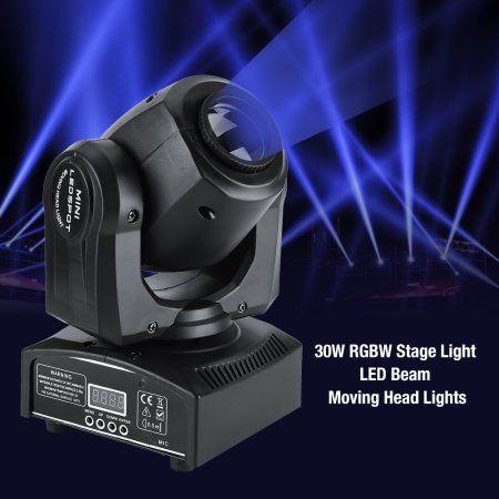 YOSOO 30W LED Moving Head Stage Light DMX512 Disco Clubs Party Effect Lights RGBW Stage Light LED Effect Light US Plug 110V