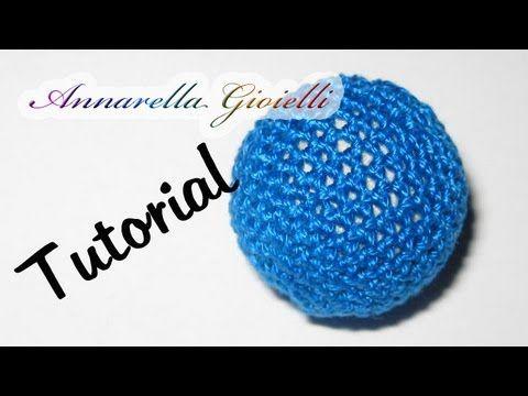 Tutorial | Rivestire perla all'uncinetto | Crochet bead - annarella gioielli
