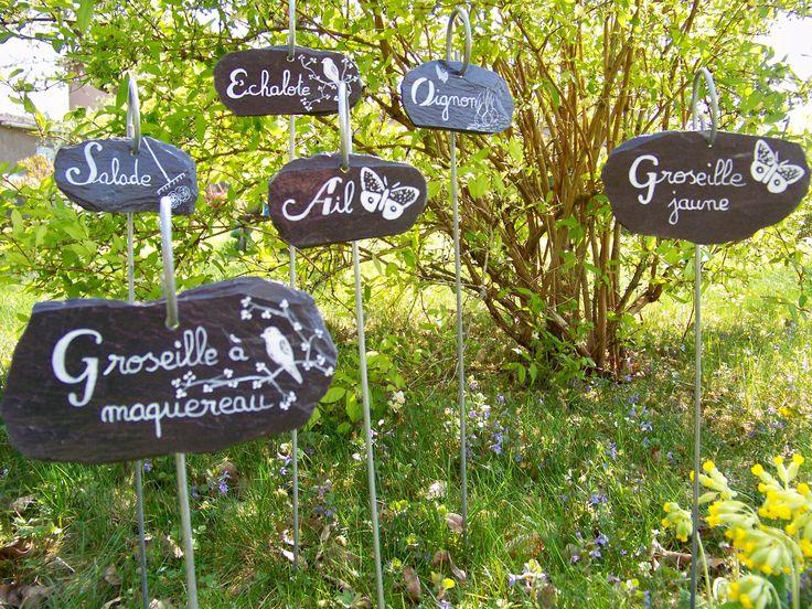 17 meilleures id es propos de tiquettes de jardin sur pinterest tiquettes pour plantes. Black Bedroom Furniture Sets. Home Design Ideas