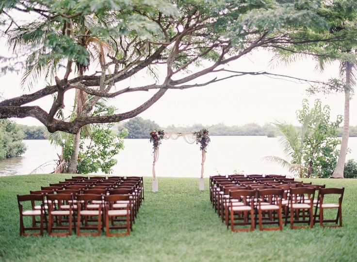 Bouquet Breakdown: Berry Colored Oahu Wedding. Wood ChairsOahu ...