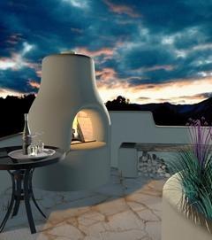 traditional adobe fireplace