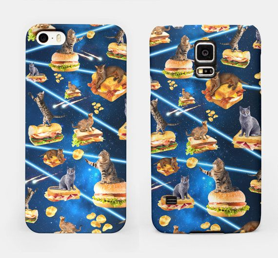 Junk Cat From Outer Space  Cover Smartphone di DeathsAmoreCloth
