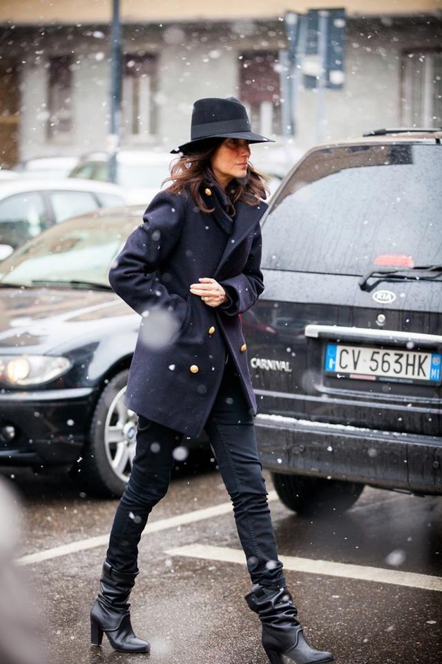 Emmanuelle Alt and snow