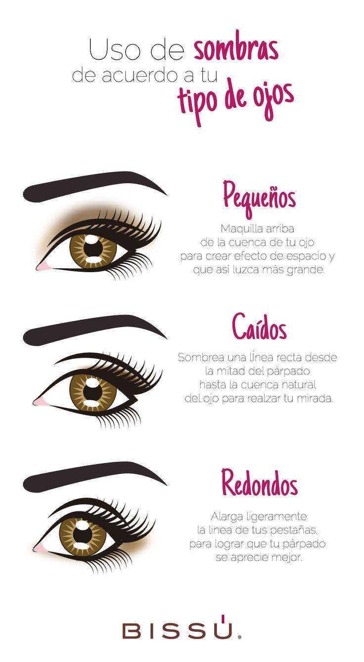 Identifica tu tipo de ojos para maquillarte correctamente. http://tiendaweb.bissu.com/4-ojos