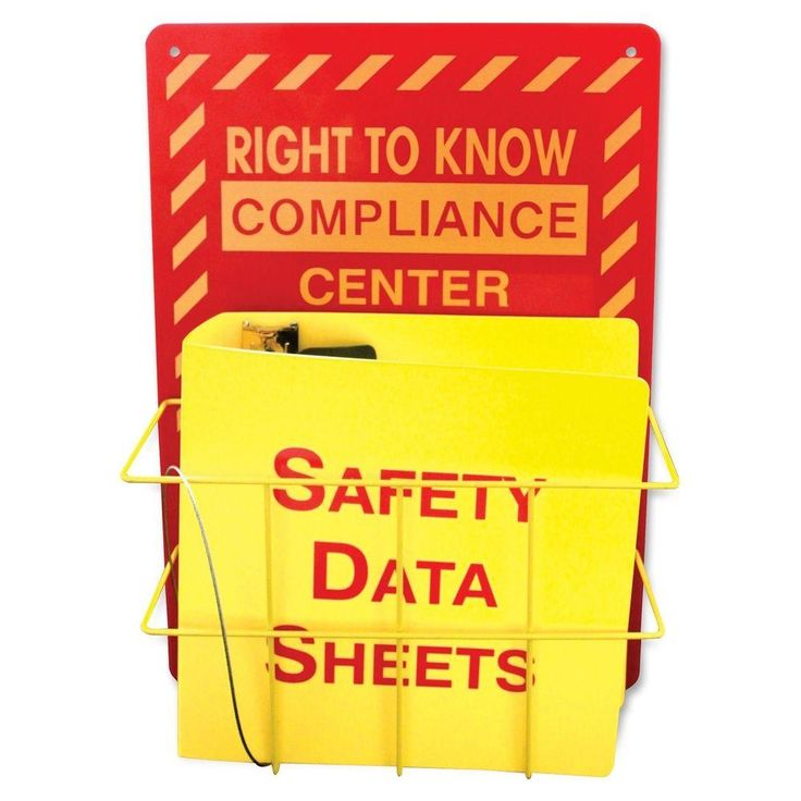 IMPACT Right to Know Center Safety Rack Wet floor signs