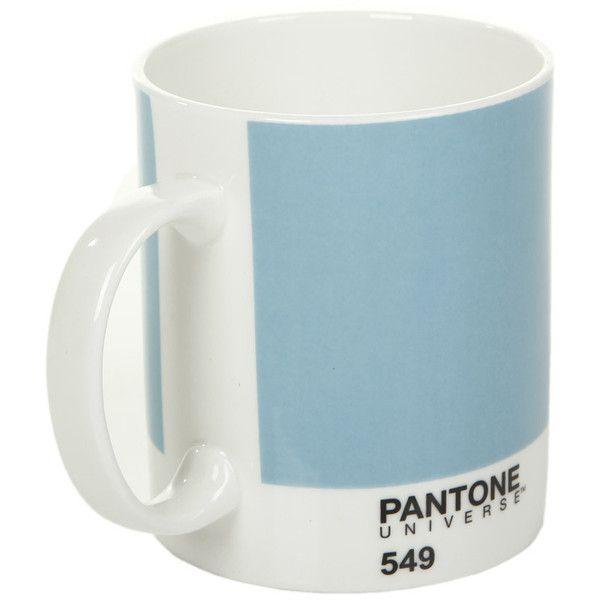 Pantone Bone China Mug - Gulf Stream - 549 ($16) ❤ liked on Polyvore featuring home, kitchen & dining, drinkware, fillers, food, blue, tea mug, pantone mug, blue mug and bone china tea mugs