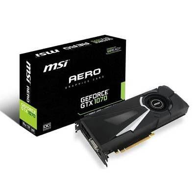 ﹩529.15. MSI Gaming GeForce GTX 1070 8GB GDDR5 Graphics Card (GTX 1070 AERO 8G OC)    Chipset/GPU UPC - 824142131367