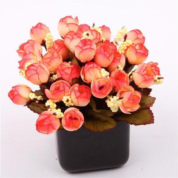 15 Heads Bonquet Artificial Rose Silk Flower Home Wedding Party Bridal Decoration