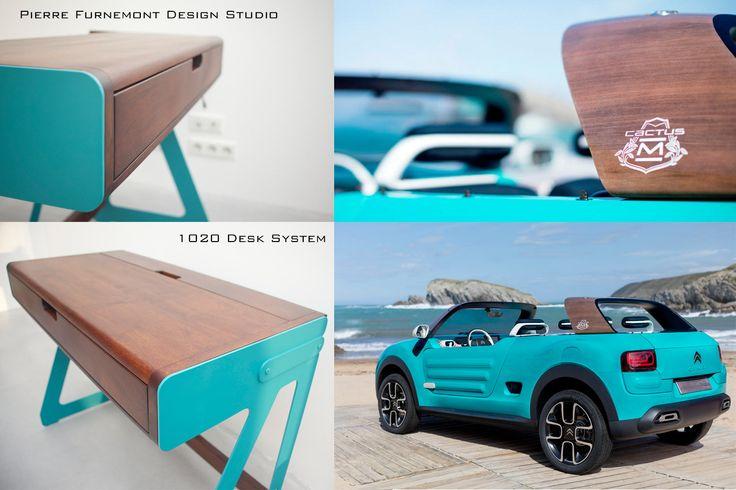 1020 Desk System Pierre Furnemont Design Studio versus #cactusM #Citroën #Desk #bureau #design