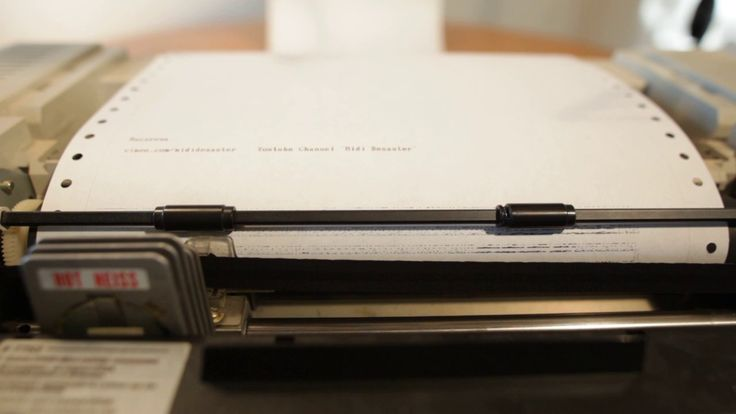 the macarena song played by an old dot matrix printer