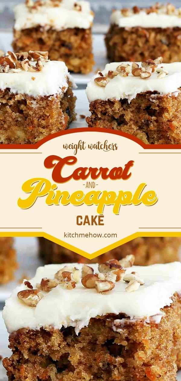 Carrot And Pineapple Cake Weightwatchers Weight Watchers Ww