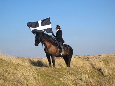 St. Piran's Day, Cornwall - St Piran's Day, the national day of Cornwall, England, is held on March 5th every year. The day is named in honor of Saint Piran, the patron saint of tin miners. The modern observance of St Piran's day, as a national symbol of the people of Cornwall, started in the late 19th and early 20th century when Celtic revivalists sought to provide the people of Cornwall with a national day similar to those observed in other nations. (Celts, Celtic, English, history)
