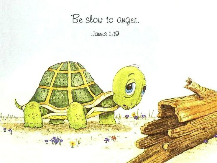 James 1:19.  Be slow to anger!