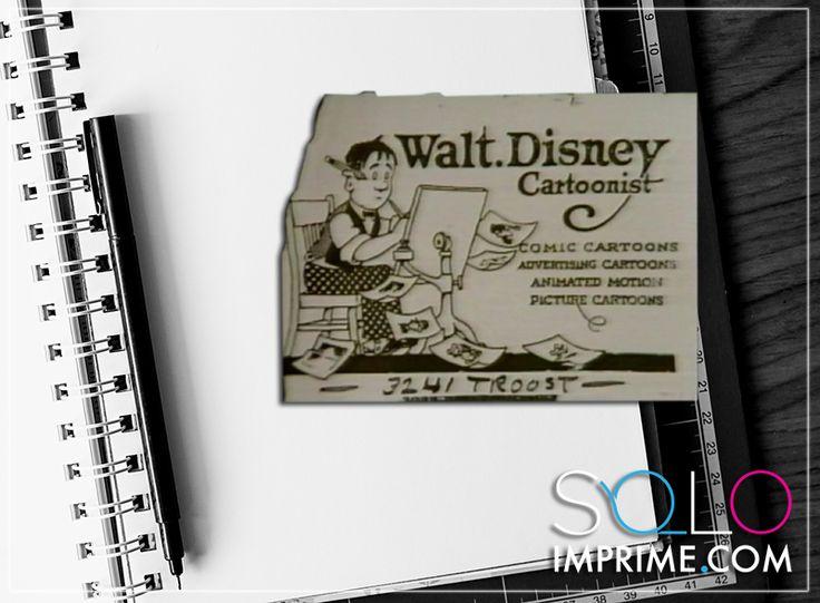 Tarjeta de Presentación, Originales, famosos, Business Card, Walt Disney