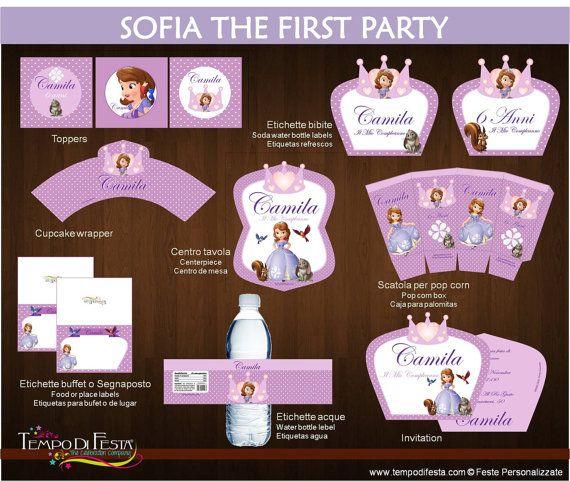 Principessa Sofia festa stampabile  Invito di Tempodifesta su Etsy, €10.50