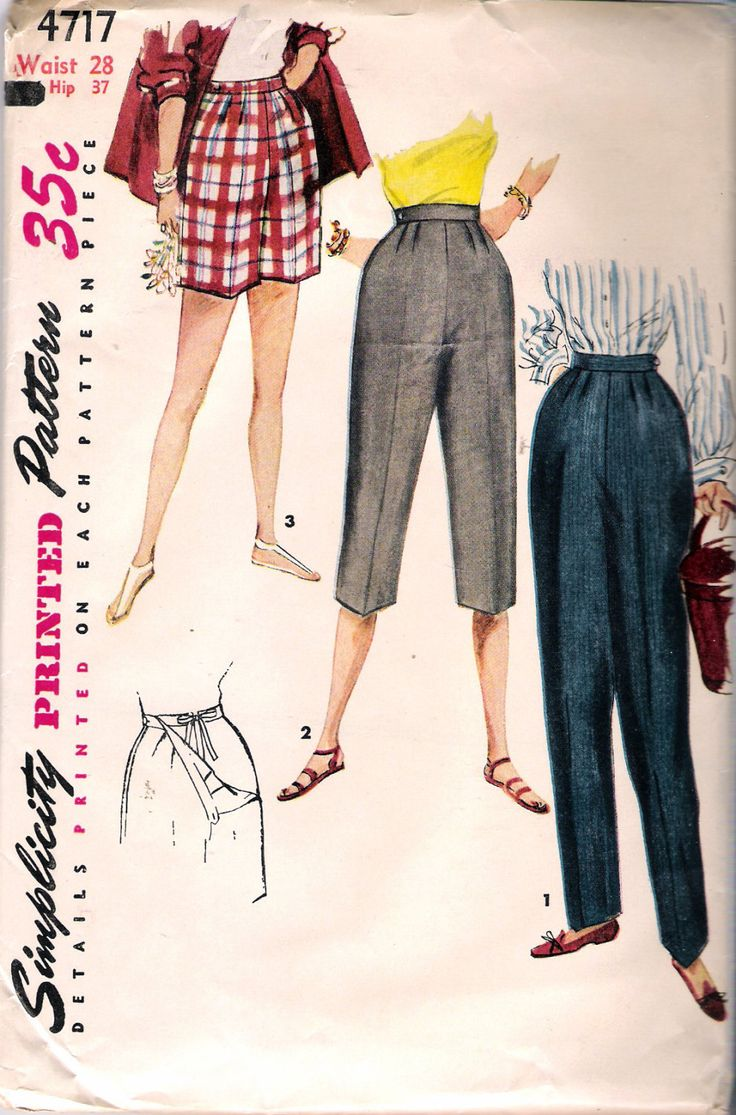 Vintage 1954 Simplicity 4717 Maternity Shorts by Recycledelic1