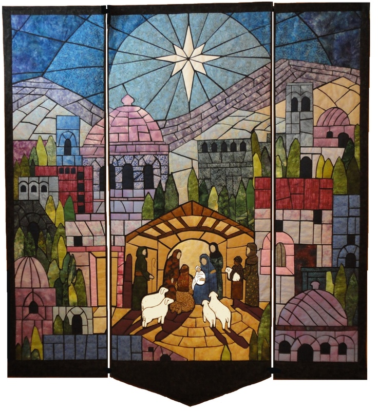 I'll never make it but maybe after mom finishes my quilt from High school she could make me one...lol  Nativity Quilt Pattern for When God Became a Man. $24.00, via Etsy.