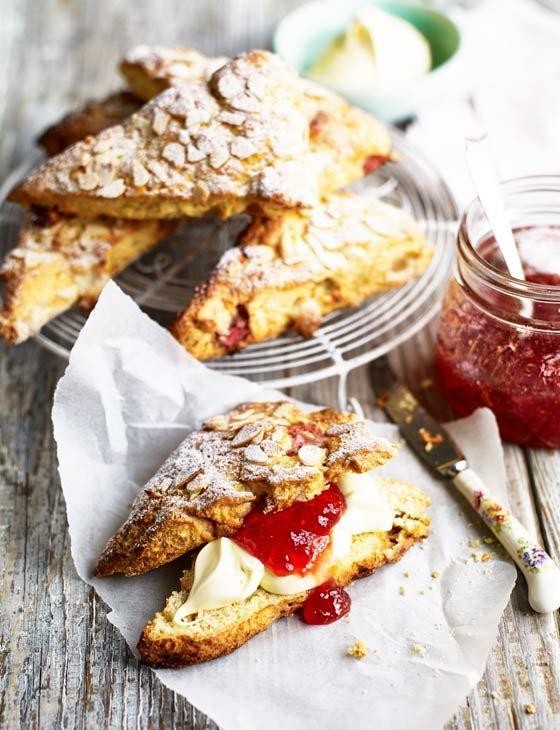 Strawberry Bakewell scones