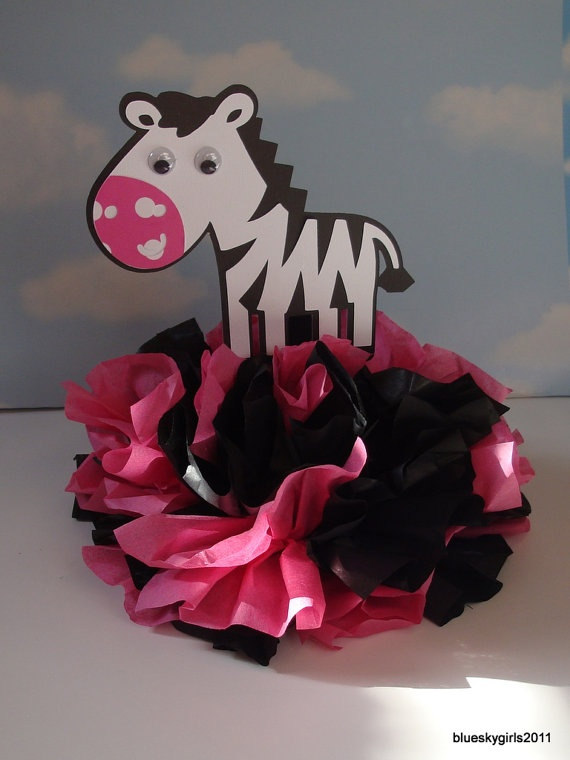 Zebra Centerpiece Decoration KIT DIY Complete by blueskygirls, $7.00