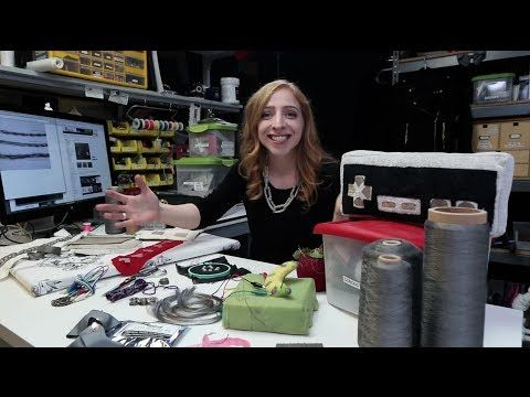 Conductive Textiles at Adafruit - Becky Stern Explains - YouTube