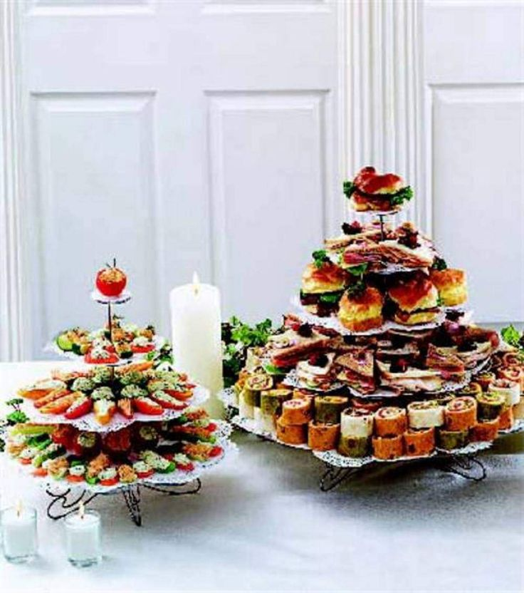Very Tempting Veggies & Sandwiches creatvie appotizer