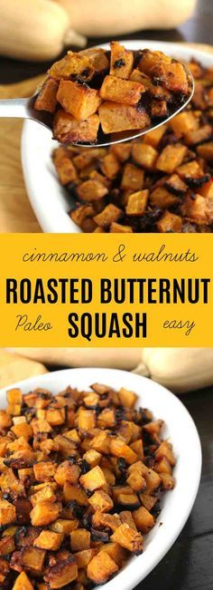 This RoastedButternut Squash {Cinnamon & Walnuts} is myhusband's favorite autumn spiced vegetable recipe. I love that it is so easy to make & healthy for our family. The sweetness of the squash is complimented with atouch of honey & the walnuts give this dish a nice crunch. (Paleo, GAPS, SCD, AIP friendly) | thenourishedfamily.com