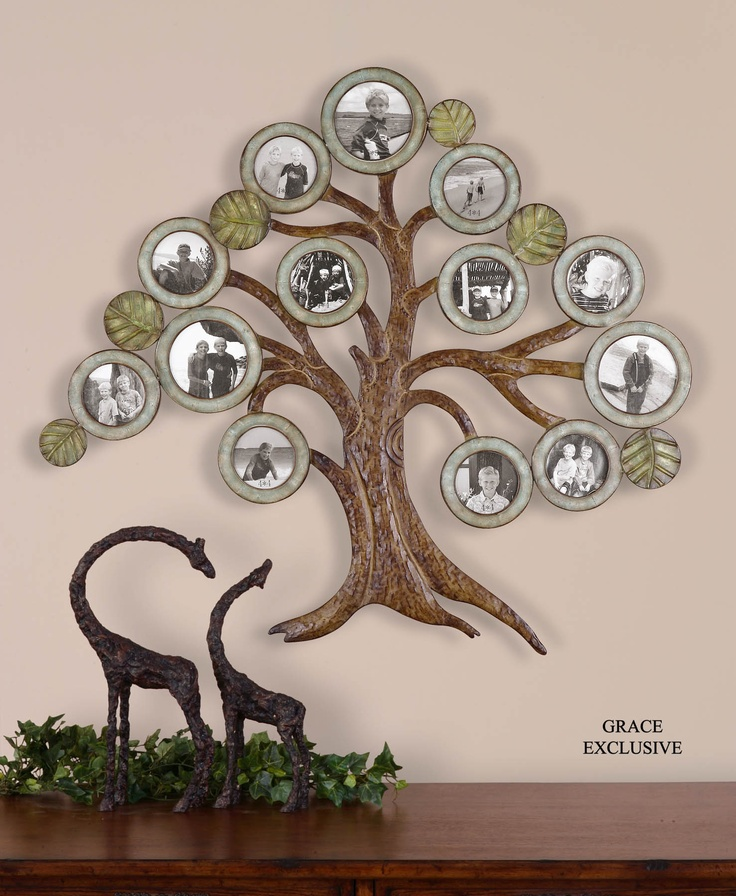 Family tree: Trees Photos, Wall Decor, Uttermost Maple, Family Trees, Maple Trees, Photos Collage, Families Trees, Pictures Frames, Photo Collages