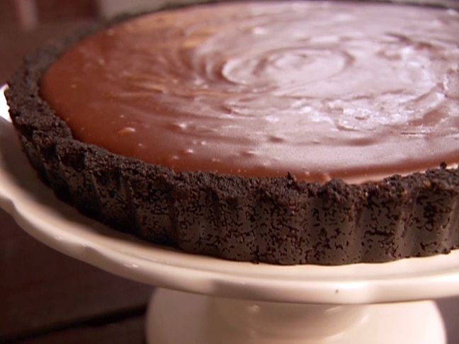 Double Chocolate Malted Tart from CookingChannelTV.com