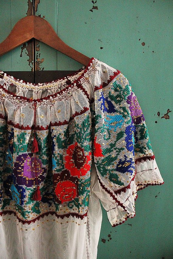 gel kayano 20 lite show womens Spring comes here - colorful embroidered pastoral tulle top - blouse / ethnic, tribal - rustic, woodland wedding clothing