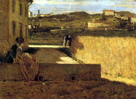 Toscane. à l'ombre de la maison, par Silvestro Lega, 1872