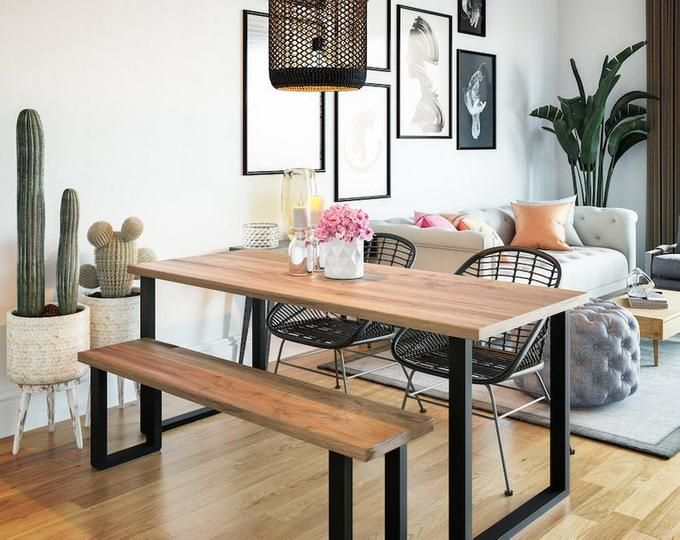 Live Edge Sofa Table Home Bar Table Dining Table With Bench Metal Dining Table Natural Wood Dining Table