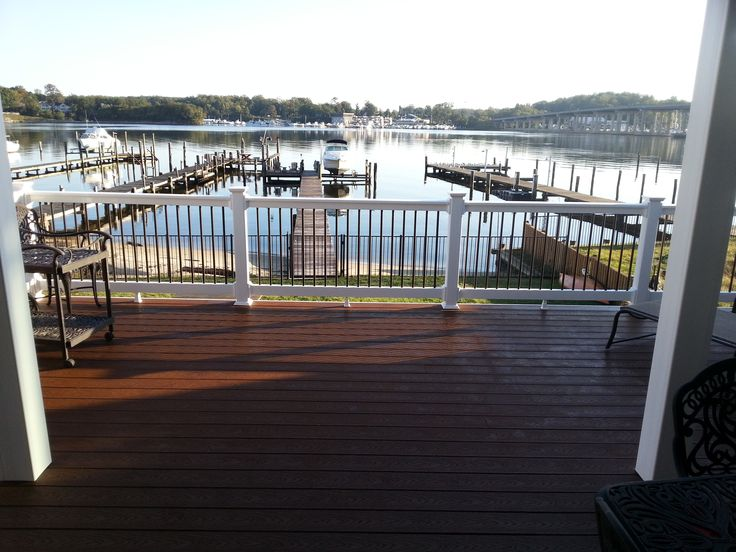 Trex Select Madeira Decking W White Pvc Railing Amp Round