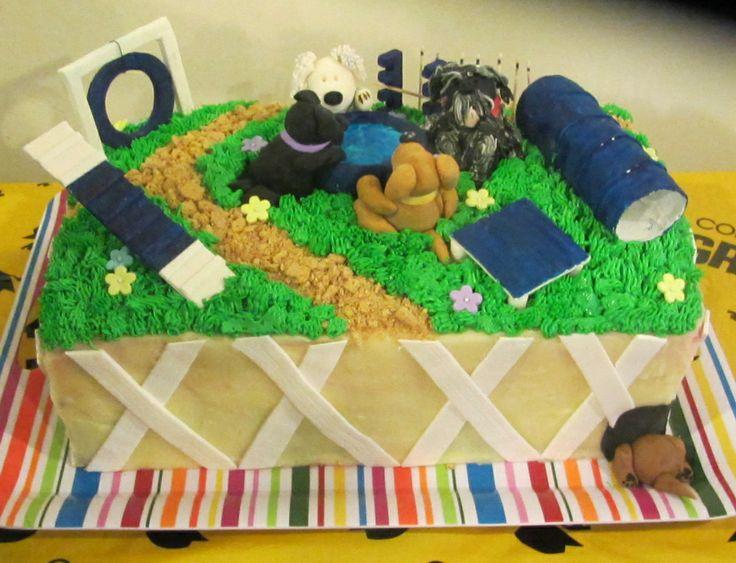 Dog Agility Cake Cakes Pinterest Dogs, Dog agility ...