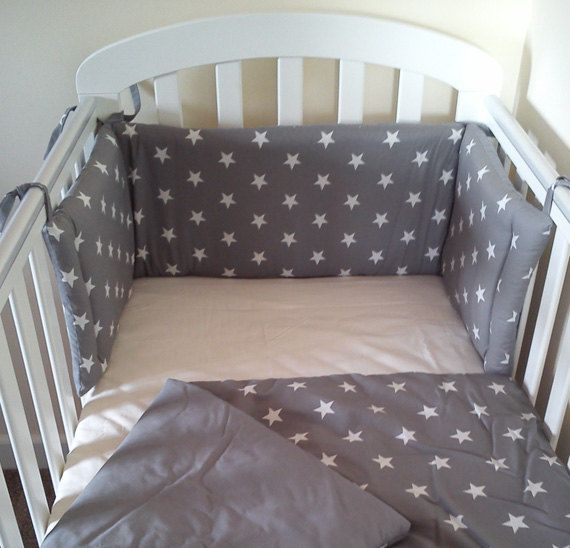 star cot cot bed mini crib bedding set bumper and by siennachic nursery ideas pinterest. Black Bedroom Furniture Sets. Home Design Ideas