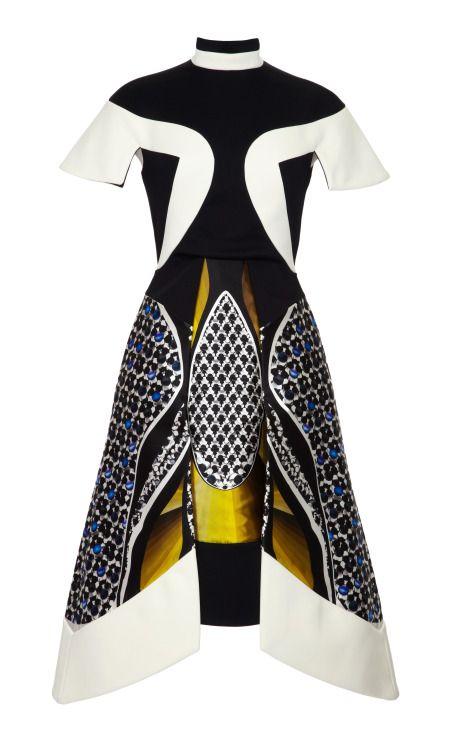 Anita Printed Silk-Blend Paneled Dress by Peter Pilotto Now Available on Moda Operandi