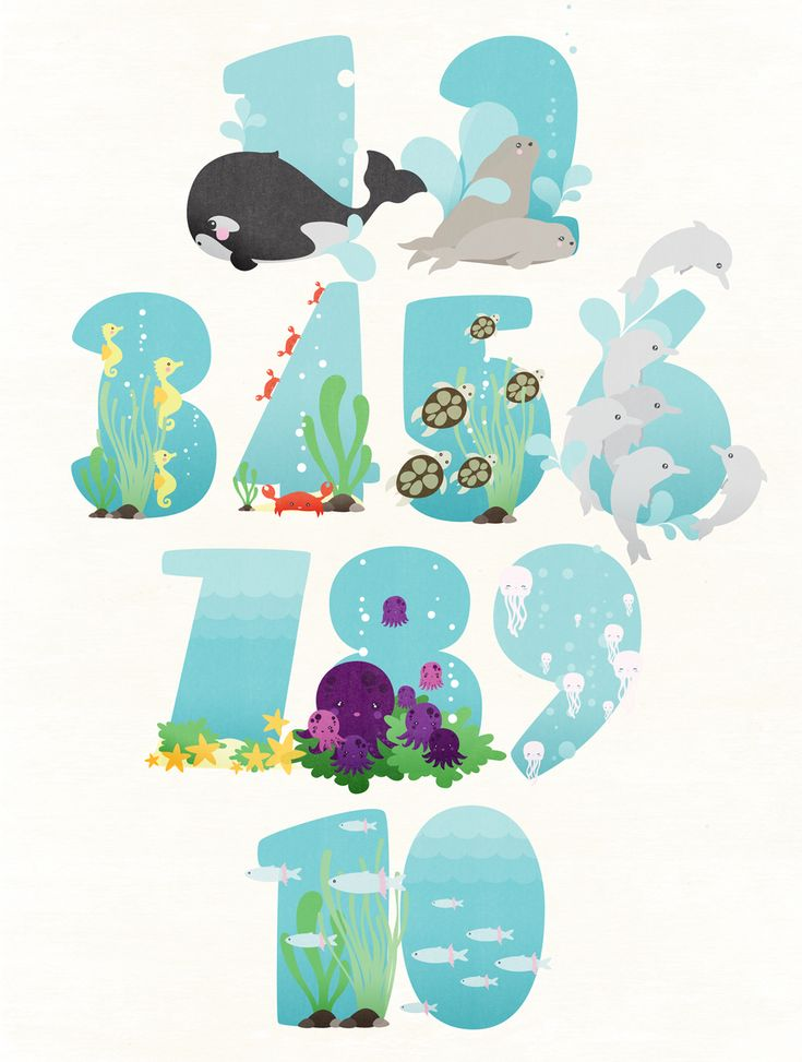 Contemos Hasta 10 - Lets count till 10 Art print of numbers