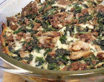 SPINACH BEEF BAKE - Linda's Low Carb Menus & Recipes