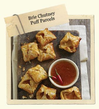 Mrs Ball's Chutney Recipes brie puff parcles