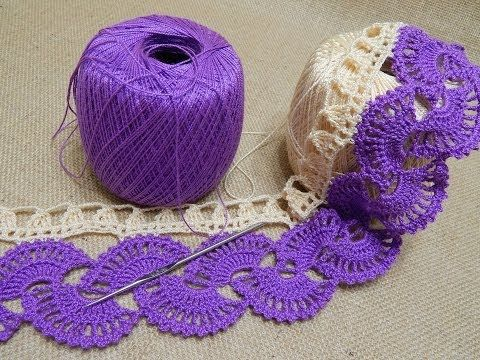 Stripy Lace to Crochet Tutorial 1 Part 1 of 2 Crochet Tape Lace - YouTube