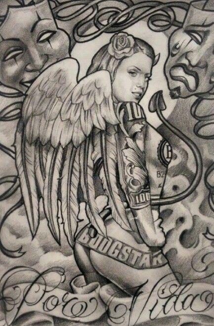 Boog ! ufff superb drawing #chicano #art