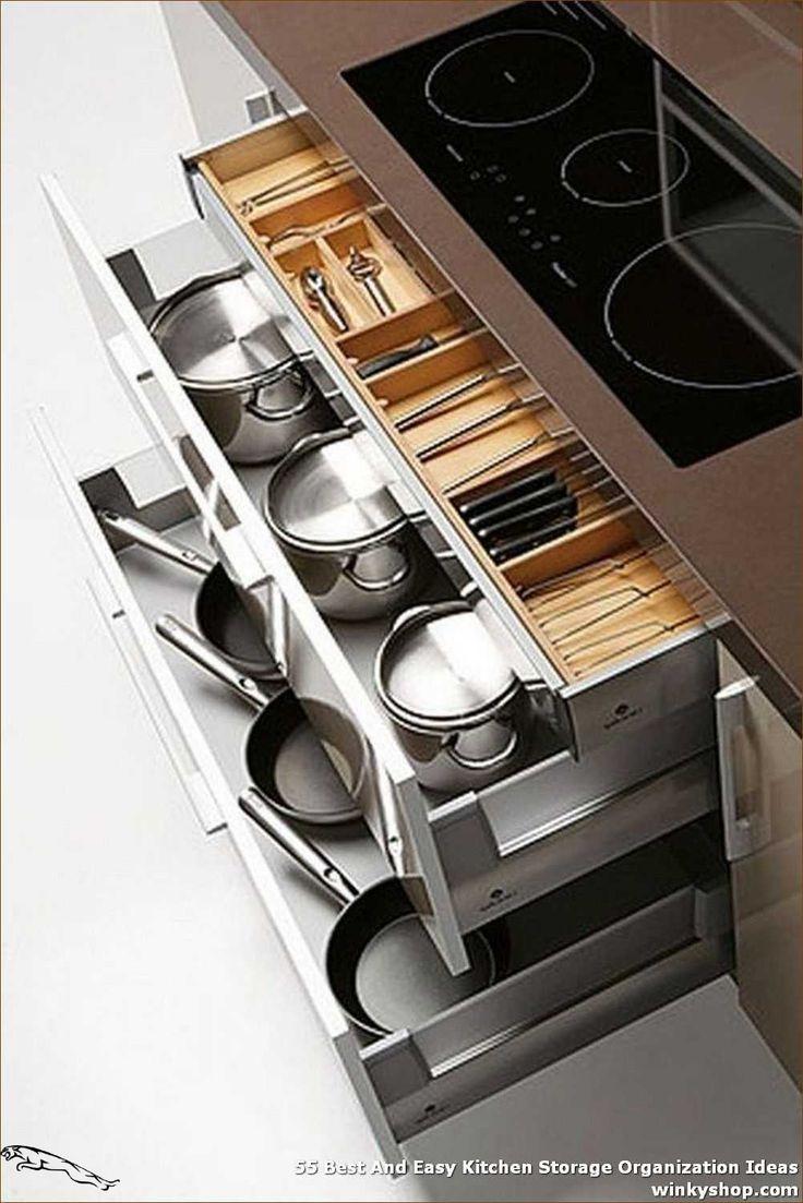 55 Best And Easy Kitchen Storage Organization Ideas 55 Best And Easy Kitchen Storage Org In 2020 Diy Kitchen Storage Clever Kitchen Storage Kitchen Storage Solutions