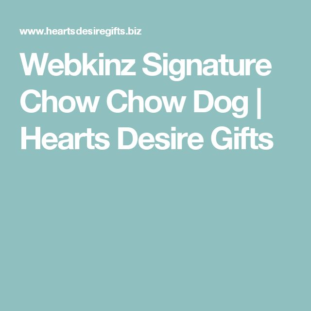 Webkinz Signature Chow Chow Dog | Hearts Desire Gifts