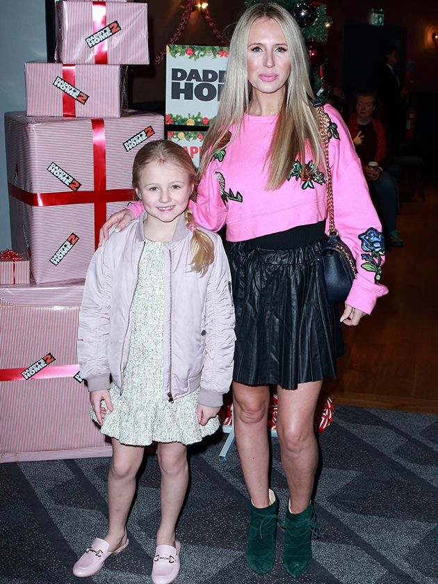 Husband Haydn Isted and their children Rocco and Fleur joined fashion presenter Naomi Isted for the festive film screening