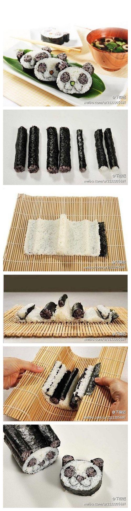 How to make panda Sushi | Sushi recipe